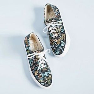 Keds x Rifle Paper Co Black Floral Anchor Lively